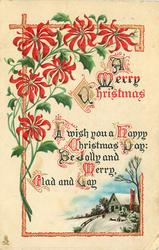 A MERRY CHRISTMAS  I WISH YOU A HAPPY CHRISTMAS DAY: BE JOLLY AND MERRY, GLAD AND GAY