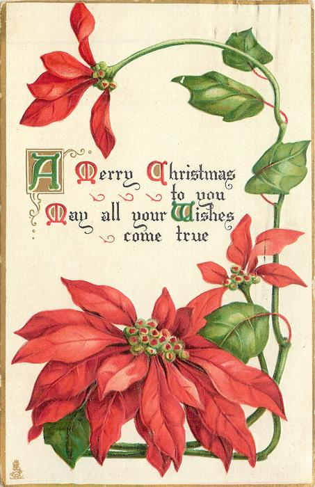 A MERRY CHRISTMAS TO YOU  MAY ALL YOUR WISHES COME TRUE