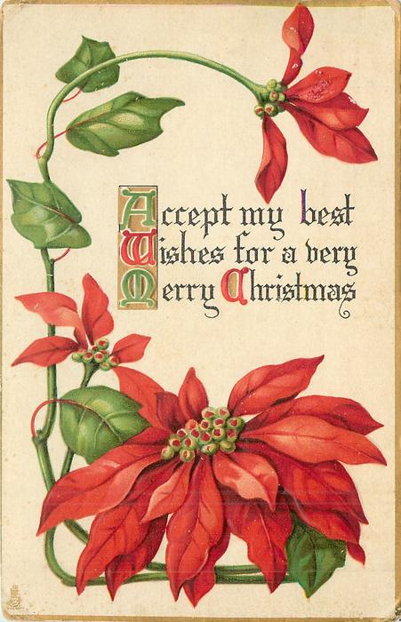 ACCEPT MY BEST WISHES FOR A VERY MERRY CHRISTMAS