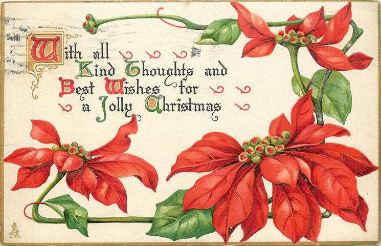 WITH ALL KIND THOUGHTS AND BEST WISHES FOR A JOLLY CHRISTMAS