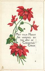 MAY YOUR HEART BE WARMED BY THE JOY OF CHRISTMAS CHEER
