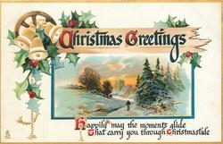 CHRISTMAS GREETINGS  HAPPILY MAY THE MOMENTS GLIDE THAT CARRY YOU THROUGH CHRISTMASTIDE