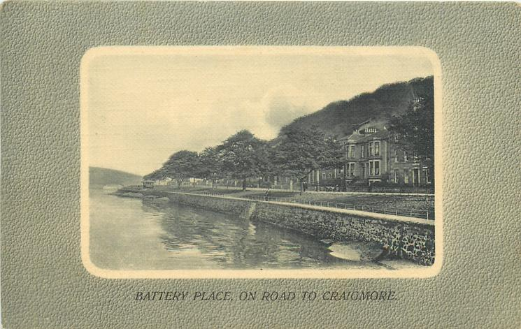 BATTERY PLACE, ON ROAD TO CRAIGMORE