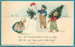ACH! DER CHRISTMAS-TIME IT VAS SO JOLLY MIT FUN UND PLAY UND A LITTLE HOLLY Dutch children, snowman