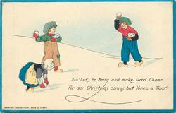 ACH! LET'S BE MERRY UND MAKE GOOD CHEER FOR DER CHRISTMAS COMES BUT VONCE A YEAR  Dutch children