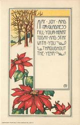 MAY JOY AND GLADNESS FILL YOUR HEART TODAY AND STAY WITH YOU THROUGHOUT THE YEAR
