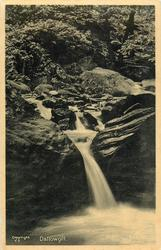 DALLOWGILL  cascade of waterfalls, pool lower right, closer view