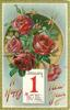 red roses, JANUARY 1 calendar page insc. A NEW HEART FOR A NEW YEAR ALWAYS