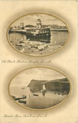 2 insets OLD PIER & HARBOUR, DOUGLAS, I.O.M and BRADDA HEAD, PORT ERIN, I.O.M.