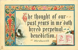 A HAPPY NEW YEAR  THE THOUGHT OF OUR PAST YEARS IN ME DOTH BREED PERCEPTUAL BENEDICTION