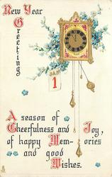 NEW YEAR GREETINGS  A SEASON OF CHEERFULNESS AND JOY, OF HAPPY MEMORIES AND GOOD WISHES