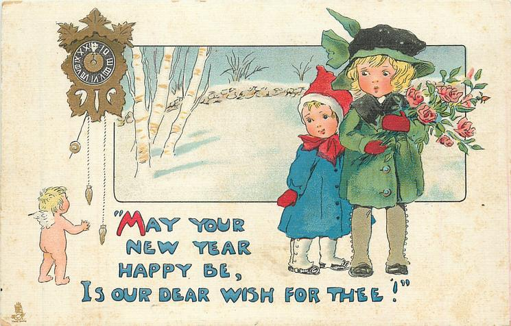 MAY YOUR NEW YEAR HAPPY BE, IS OUR DEAR WISH FOR THEE!