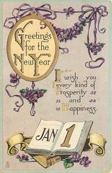 GREETINGS FOR THE NEW YEAR  I WISH YOU EVERY KIND OF PROSRERITY AND  HAPPINESS