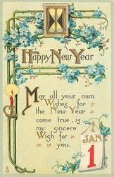 HAPPY NEW YEAR  MAY ALL YOUR OWN WISHES FOR THE NEW YEAR COME TRUE, IS MY SINCERE WISH FOR YOU