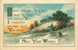 TIMES CHANGE-IT IS SO EASY TO FORGET-LET THIS ASSURE YOU I REMEMBER YET AND SEND YOU WARM NEW YEAR WISHES
