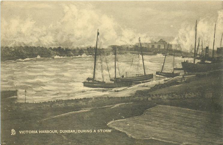 VICTORIA HARBOUR, DUNBAR, DURING A STORM