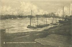 VICTORIA HARBOUR, DUNBAR, DURING A STORM