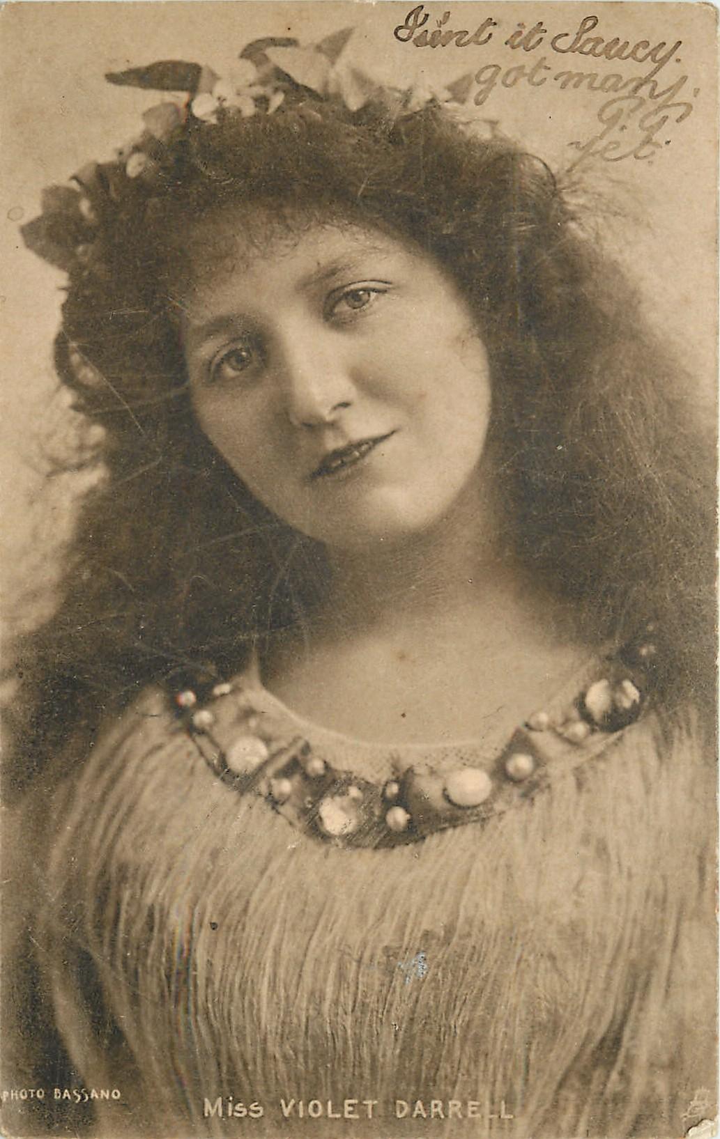 MISS VIOLET DARRELL - TuckDB Postcards