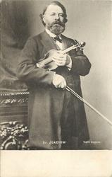 DR. JOACHIM  holding violin