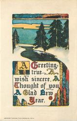 A GREETING TRUE  A WISH SINCERE, A THOUGHT OF YOU, A GLAD NEW YEAR