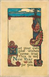 MAY YOUR OWN GOOD WISHES COME TRUE, THIS IS MY NEW YEAR WISH FOR YOU
