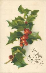 A JOYFUL CHRISTMAS  holly