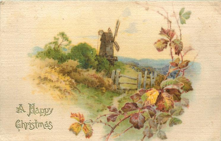 A HAPPY CHRISTMAS  path & style up to windmill