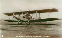 AN IMPERIAL AIRWAYS PASSENGER AEROPLANE  PRINCESS MARY  (on aircraft)  on airfield, facing left/front
