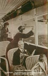 OVER THE CHANNEL. COMFORT, PLEASURE AND CONFIDENCE IN AN IMPERIAL AIRWAYS LINER