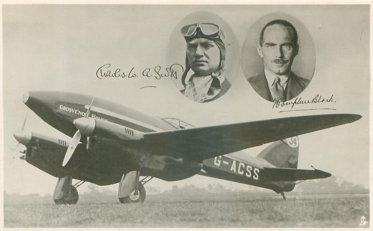 A SOUVENIR OF THE BRITISH D.H.COMET, WINNER OF THE  ENGLAND-AUSTRALIA AIR RACE 1934