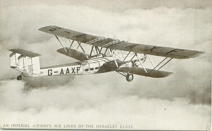 AN IMPERIAL AIRWAYS AIR LINER OF THE HERACLES CLASS, G-AAXF (on aircraft)  flying