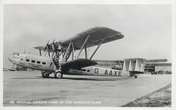 HENGIST GAAXE (on aircraft), AN IMPERIAL AIRWAYS LINER OF THE HERACLES CLASS