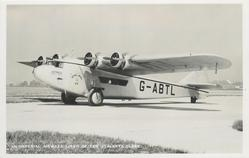 ASTRAEA (on aircraft), G-ABTL, AN IMPERIAL AIRWAYS LINER OF THE ATALANTA CLASS  on airfield facing left