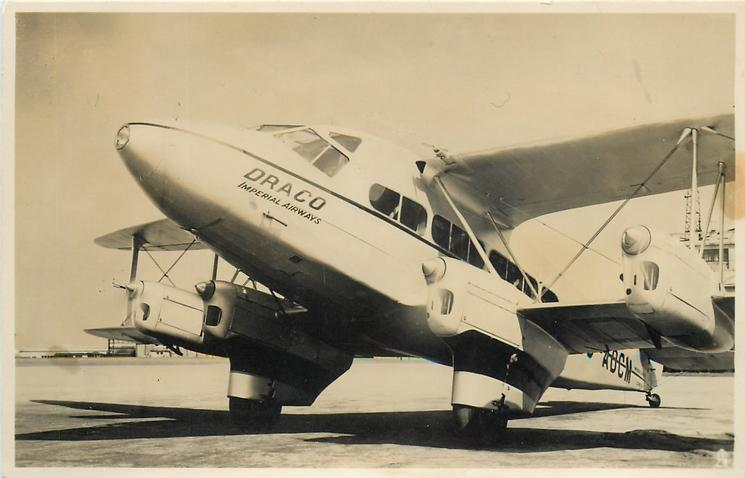 DRACO or DRYAD IMPERIAL AIRWAYS (on aircraft) - TuckDB Postcards