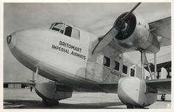 BRITOMART (on aircraft), IMPERIAL AIRWAYS BOADICEA CLASS USED FOR CHARTER SERVICES