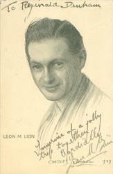 LEON M. LION  magician