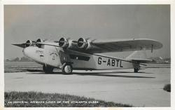 AN IMPERIAL AIRWAYS LINER OF THE ATLANTA CLASS, ASTRAEA G-ABTL (on aircraft)  on airfield facing left