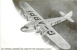 AN IMPERIAL AIRWAYS AIR LINER OF THE ATLANTA CLASS, G-ABPI (on aircraft)  flying left