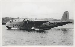 CENTURION (on aircraft) G-ADVE, THE FLYING-BOAT CENTURION OF IMPERIAL AIRWAYS USED ON THE EMPIRE ROUTES  landed on water
