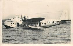 CHALLENGER (on aircraft) G-ADVD, THE FLYING-BOAT CHALLENGER OF IMPERIAL AIRWAYS USED ON THE EMPIRE ROUTES