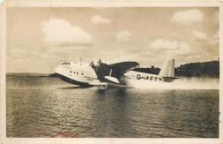 CIRCE (on aircraft) G-AETZ, THE IMPERIAL FLYING-BOAT CIRCE OF IMPERIAL AIRWAYS USED ON THE EMPIRE ROUTES  landed on water