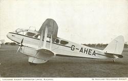 DE HAVILLAND TWIN-ENGINED AIRCRAFT, G-AHEA (on aircraft)