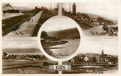 5 insets THE PIER/THE PROMENADE/THE HOLY LOCH/THE GOLF COURSE/ KIRN