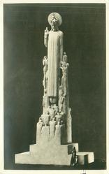 """CHRIST THE KING"", MODEL FOR THE FACADE OF LIVERPOOL ROMAN CATHOLIC CATHEDRAL BY SERGEANT JAGGER, M.C.,A.R.A"