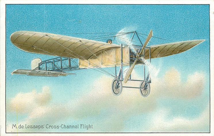 M. DE LESSEPS' CROSS-CHANNEL FLIGHT