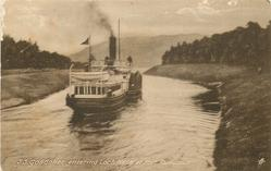 S.S. GONDOLIER ENTERING LOCH NESS AT FORT AUGUSTUS