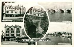 5 insets  YE OLDE POST HOUSE/CLATTERN BRIDGE/KINGSTON BRIDGE/THE MARKET/THE RIVER AND BOATYARDS