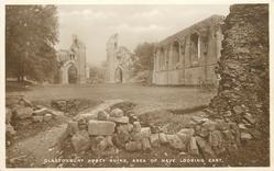 GLASTONBURY ABBEY RUINS, AREA OF NAVE LOOKING EAST