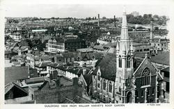 GUILDFORD VIEW FROM WILLIAM HARVEY'S ROOF GARDEN