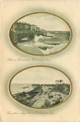 2 insets TIDE ON PROMENADE, WALTON-ON-NAZE and VIEW FROM NAZE POINT, WALTON-ON-NAZE